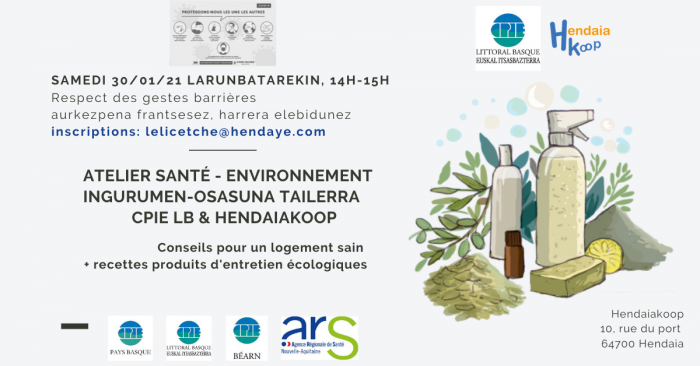 atelier-conseil-pour-un-logement-sain-+-recettes-de-produits-ecologiques-cpie-littoral-basque--hendaiakoop